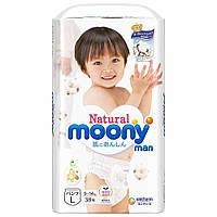 Подгузники – трусики Moony Natural L 9-14 кг, 36 шт. (Внутренний рынок Японии) 4903111287376