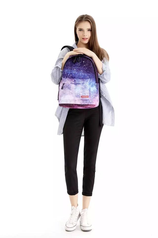 Рюкзак с космосом на девочке