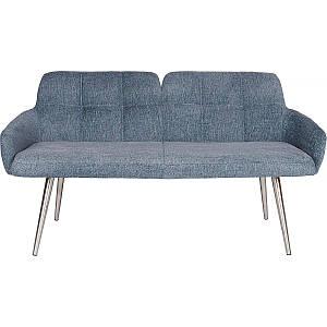 """Кресло - банкетка OLIVA (Олива) синяя от Niсolas, ткань """"рогожка"""""""