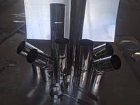 Труба 1м, нержавейка 0,5 мм,диаметр 125 мм. дымоход димохід