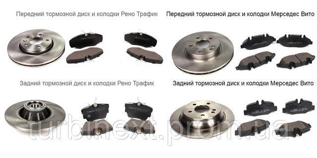 Тормозные диски колодки Опель Виваро и Мерседес Вито 639