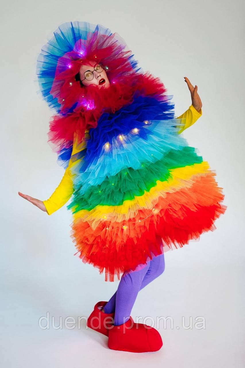 Фьека Радужный светящийся мужской карнавальный костюм / BL - ВМ275
