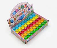 Детская игрушка. Двухцветные слаймы в маленьких бутылочках