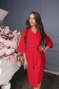 Женское платье с кисточкойКрасный