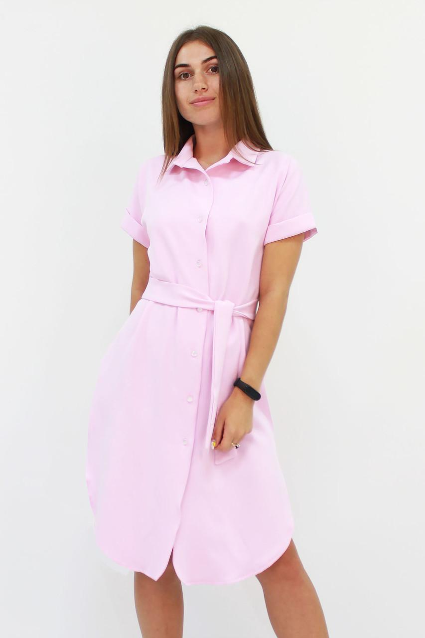 S, M, L / Зручне жіноче плаття-сорочка Sandy, рожевий