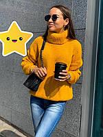 Объемный свитер Арчи р. 42-48 горчица