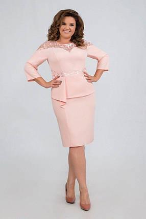"""Элегантное женское платье ткань """"Костюмная"""" 52 размер батал, фото 2"""