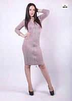 Женское платье прямое на молнии на осень 42-50р