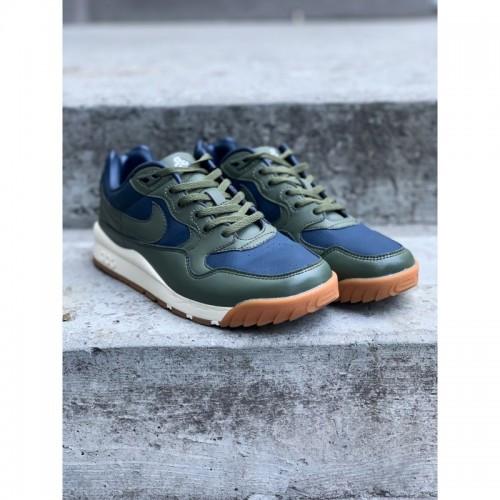 Кроссовки Nike А 03116-001 хаки с синим VT