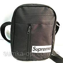 Спортивные барсетки Supreme текстиль (черный)20*27см