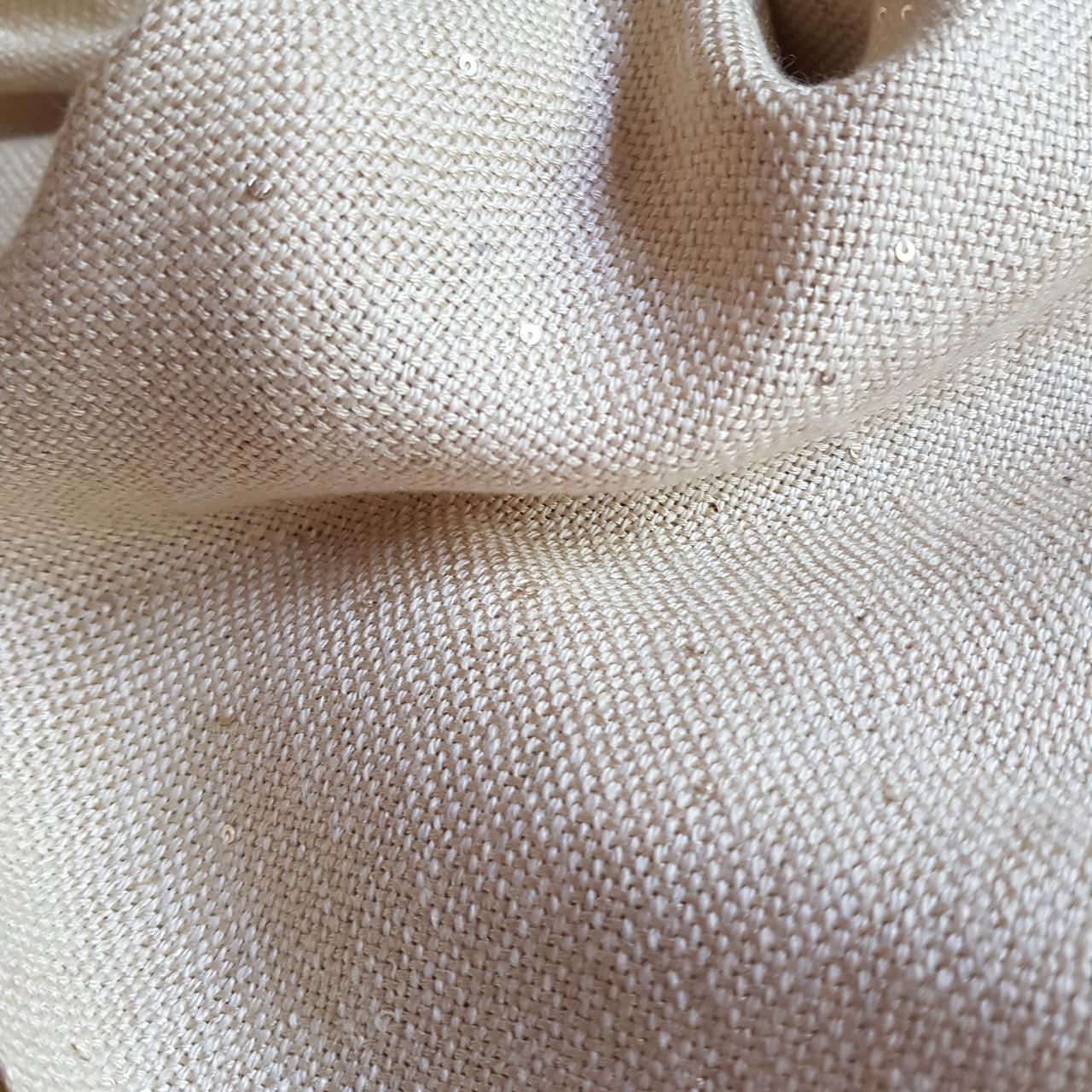 Кашемировый шарф Chadrin  с шелком и микропайетками бежевый