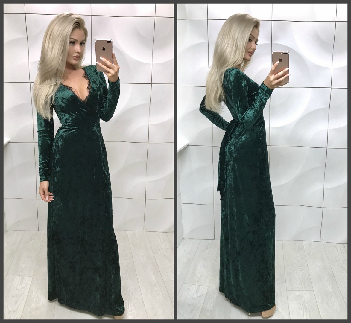 Платье в пол бархат