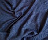 Кашемировый шарф Chadrin с шелком синий с микро пайетками, фото 2