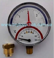 Термоманометр INTROL TM 14- 4 bar - різьба 1/2 - 0-120°C