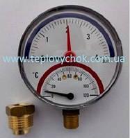 Термоманометр INTROL TM 14- 4 bar - різьба 1/2 - 0-120°C