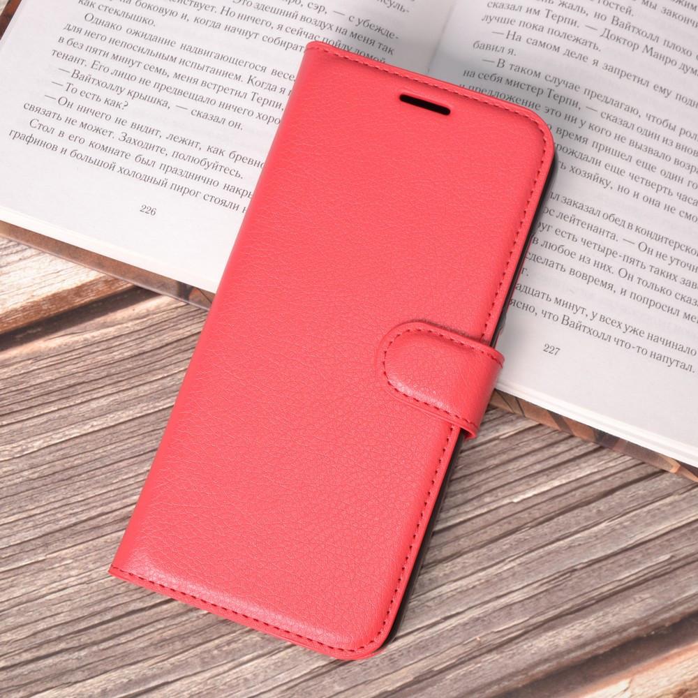Чехол-книжка Bookmark для Xiaomi Mi 8 Lite red