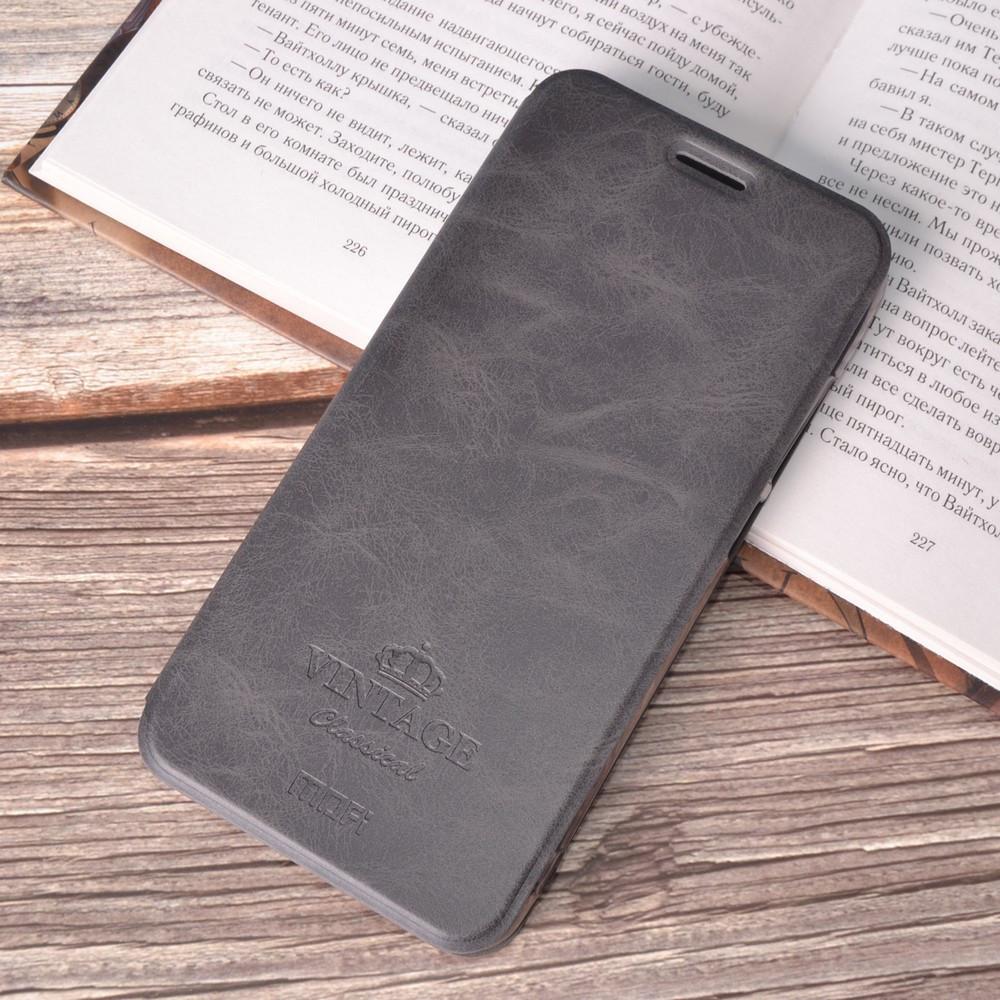 Чехол-книжка MOFI Vintage Series для Xiaomi Redmi Note 6 Pro gray
