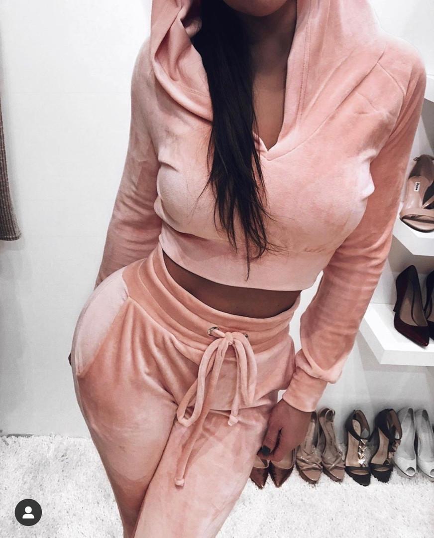 Женский велюровый костюм , 2 расцветки