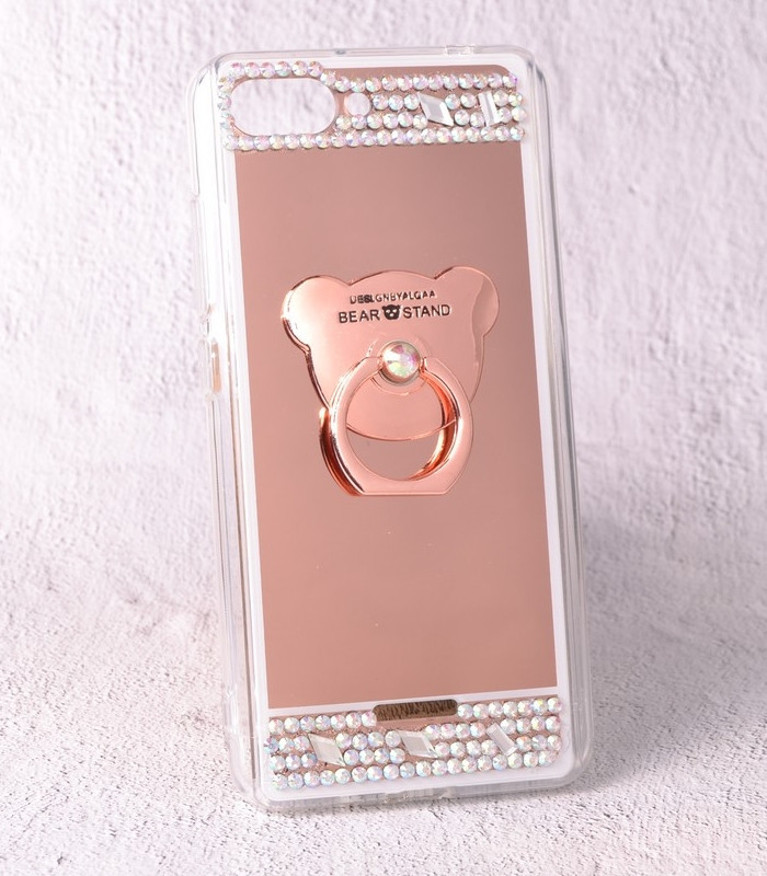 Чехол-накладка TPU Luxury Bear rose gold для Xiaomi Redmi 6A