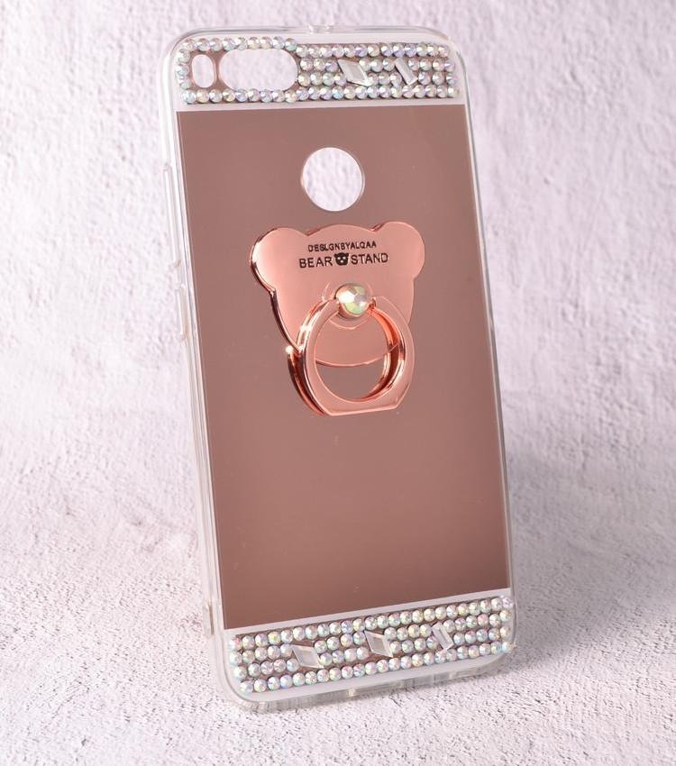 Чехол-накладка TPU Luxury Bear rose gold для Xiaomi Mi A1 (Mi 5X)