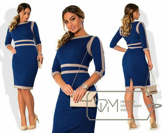 "Элегантное женское платье ткань ""Креп-дайвинг"" 48, 50, 52, 54 размер батал, фото 2"