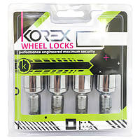 Комплект болтов (секретки) Korex Сфера (M14x1.5x28) Вращающееся кольцо/Цинк