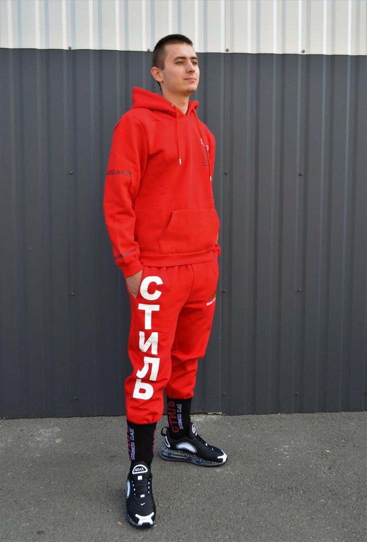 Мужской спортивный костюм утепленный Heron Preston x Стиль red