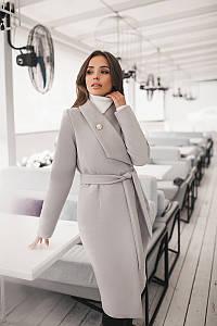Пальто женское Серый