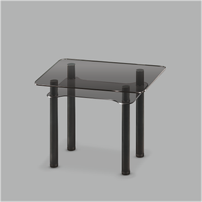 Стеклянный обеденный стол Тetra mini G-G Bl, фото 2