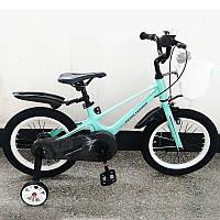 Двухкколесный велосипед Royal Voyage Shadow, магниевая рама, 16 дюймов, бирюзовый