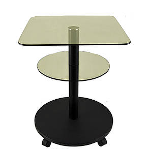Стол журнальный стеклянный квадратный Commus Bravo Light450 Kv6 gold-venge-bl50, фото 2