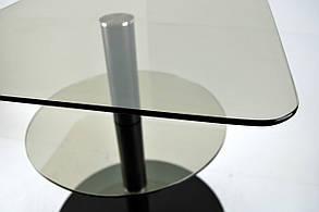 Стол журнальный стеклянный квадратный Commus Bravo Light450 Kv6 gold-venge-bl50, фото 3