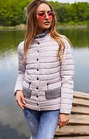 Светлая куртка с небольшой стойкой, фото 1
