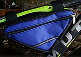 Вело сумка на два отделения подрамная треугольная велосипедная сумка для велосипеда, велосумка велобардачок, фото 2