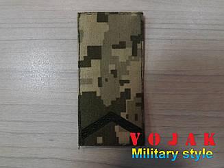 Погон (нашивной) ЗСУ Старший солдат (тк.NDU) 10*5см (735)