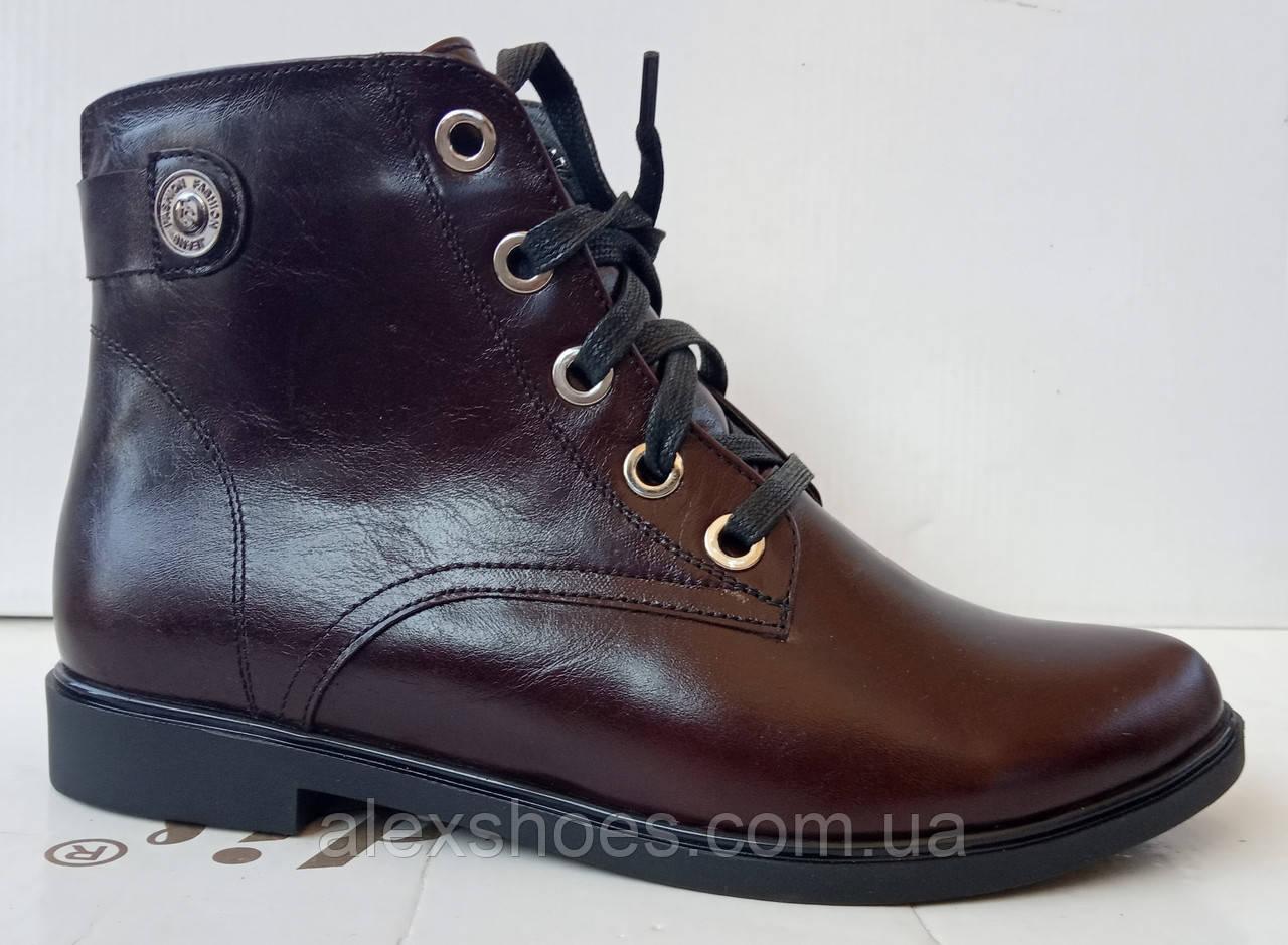 Ботинки демисезонные на низком ходу из натуральной  кожи от производителя модель ДИС523-2