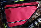 Вело сумка два отделения подрамная четырехугольная велосипедная сумка для велосипеда, велосумка велобардачок, фото 2
