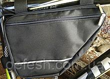 Вело сумка два отделения подрамная четырехугольная велосипедная сумка для велосипеда, велосумка велобардачок