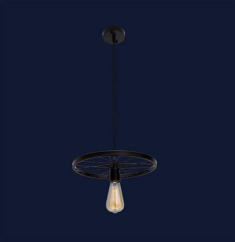 Подвесной светильник на одну лампу формы Колесо 746WXA012-1 BK, фото 2