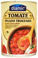 Помидоры кубиками в собственном соку Diamir Tomate Pelado Troceado 390г.ж/б