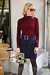 Женская юбка с поясом и гольф рубчик отдельно (в расцветках), фото 3