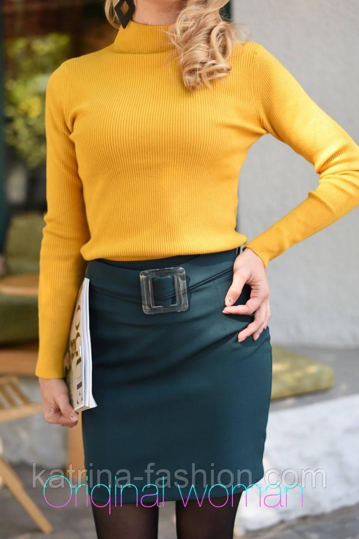 Женская юбка с поясом и гольф рубчик отдельно (в расцветках)