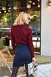 Женская юбка с поясом и гольф рубчик отдельно (в расцветках), фото 6
