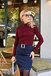 Женская юбка с поясом и гольф рубчик отдельно (в расцветках), фото 9