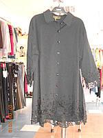 Рубашка нарядная черная c дорогим кружевом Life Adrenalin, фото 1