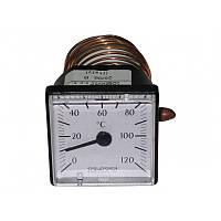 Термометр (квадратный) ф 45мм., 0-120С. для котлов.