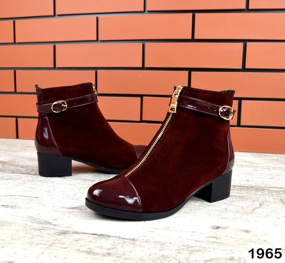 Женские ботинки бордового цвета, из натуральной замши 37 41 ПОСЛЕДНИЕ РАЗМЕРЫ