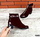 Женские ботинки бордового цвета, из натуральной замши 37 41 ПОСЛЕДНИЕ РАЗМЕРЫ, фото 2
