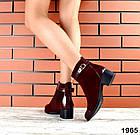 Женские ботинки бордового цвета, из натуральной замши 37 41 ПОСЛЕДНИЕ РАЗМЕРЫ, фото 3