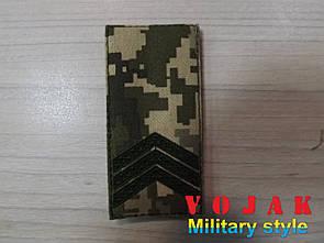 Погон (нашивной) ЗСУ Сержант (тк.NDU) 10*5см (1294)
